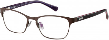 Superdry SDO-MILA glasses in Painted Brown/Pink Stripe