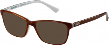Superdry SDO-JAIME sunglasses in Brown Horn/Bone