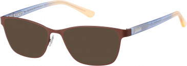 Superdry SDO-KENDAL sunglasses in Matte Painted Brown/Gloss Navy/Orange Fade