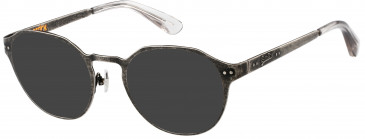 Superdry SDO-MARTY sunglasses in Matte Antique Silver/Gloss Crystal
