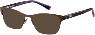 Superdry SDO-MILA sunglasses in Painted Brown/Pink Stripe