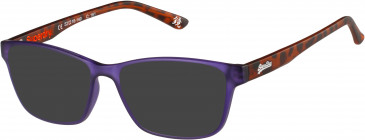 Superdry SDO-YUMI sunglasses in Matte Purple/Tortoise