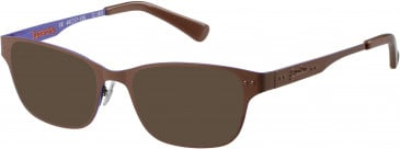 Superdry SDO-TAYLOR sunglasses in Matte Black/Raspberry Red
