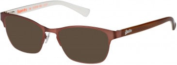 Superdry SDO-MILA sunglasses in Matte Metallic Rose/Horn/Bone