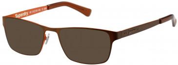 Superdry SDO-CEDAR sunglasses in Matte Brown/Orange