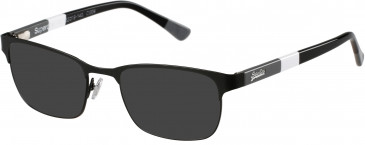 Superdry SDO-CARTER sunglasses in Matte Navy Blue/White/Red