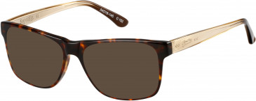 Superdry SDO-AVERY sunglasses in Gloss Tortoise/Gloss Amber-Brown Fade
