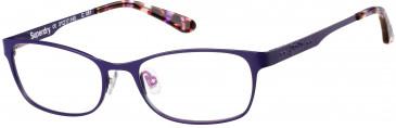 Superdry SDO-AIMI glasses in Matte Painted Purple/Gloss Purple Tortoise