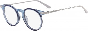 Calvin Klein CK18705 glasses in Crystal Light Blue/Navy