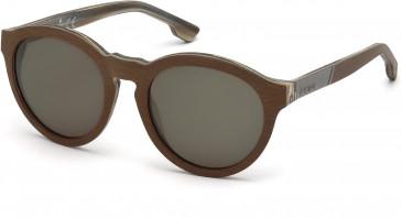 Diesel DL0086 sunglasses in Light Brown