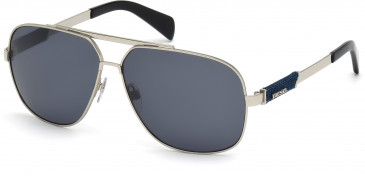 Diesel DL0088 sunglasses in Shiny Light Ruthenium