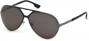 Diesel DL0114 sunglasses in Shiny Gunmetal