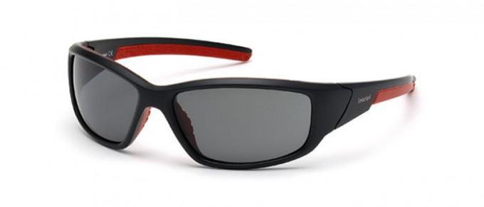 Timberland TB9049 sunglasses in matte black/smoke polarized