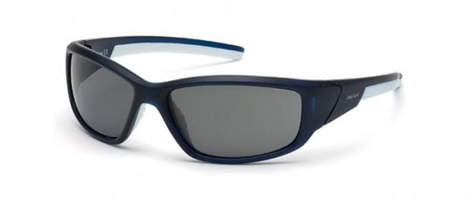 Timberland TB9049 sunglasses in matte blue/smoke polarized