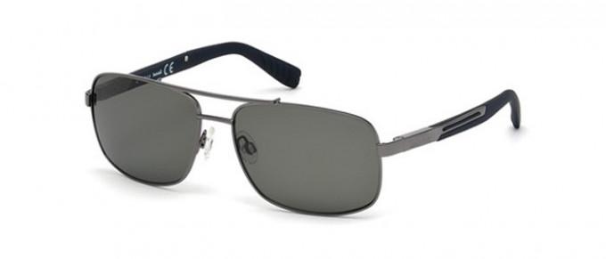 Timberland TB9057 sunglasses in shiny Gunmetal/smoke polarized