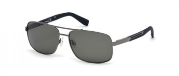 Timberland TB9057 sunglasses in shiny Gunmetal/smoke polarized