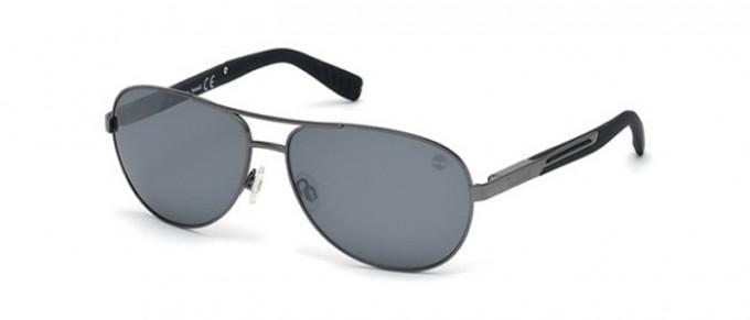 Timberland TB9058 sunglasses in shiny Gunmetal/smoke polarized