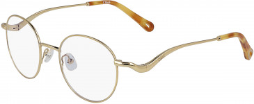 Chloé CE2155 glasses in Yellow Gold/Havana