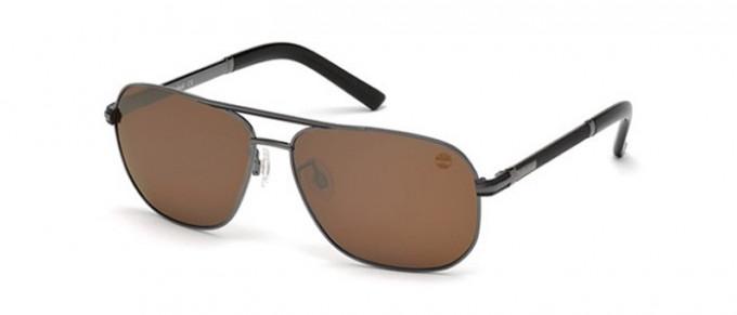 Timberland TB9071 sunglasses in shiny Gunmetal/brown polarized