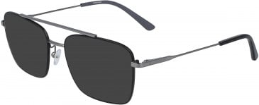 Calvin Klein CK19104-55 sunglasses in Satin Black