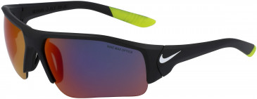 Nike SKYLON ACE XV JR R EV0910 kids sunglasses in Matte Black With Field Tint Lens