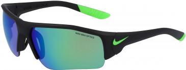 Nike SKYLON ACE XV JR R EV0910 kids sunglasses in Matt Blk/Rage Grn/Gry W/Green Mi
