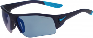 Nike SKYLON ACE XV JR EV0900 kids sunglasses in Matte Midnight Navy/Blue Lagoon With Grey W/Blue Sky Flash Lens