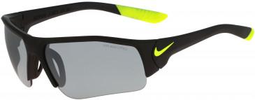 Nike SKYLON ACE XV JR EV0900 kids sunglasses in Matte Black/Volt With Grey W/Silver Flash Lens