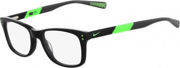 Nike 5538-46 kids glasses in Black-Flash Lime