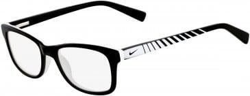 Nike 5509-48 kids glasses in Black/White Black