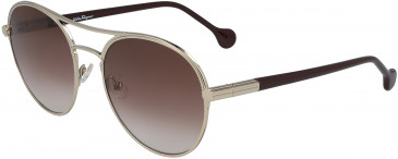 Salvatore Ferragamo SF2174S sunglasses in Gold/Wine