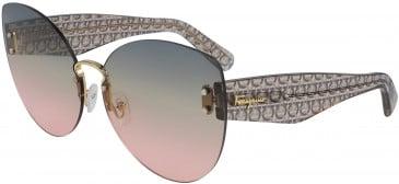 Salvatore Ferragamo SF208S sunglasses in Gold/Blue Green Salmon