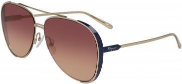 Salvatore Ferragamo SF205S sunglasses in Gold/Blue