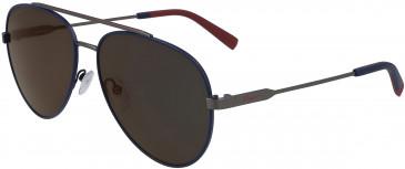 Salvatore Ferragamo SF204S sunglasses in Blue/Matte Ruthenium