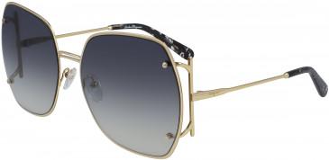 Salvatore Ferragamo SF202S sunglasses in Gold/Grey Gradient Flash
