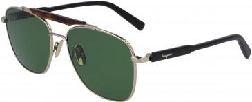Salvatore Ferragamo SF198S sunglasses in Shiny Gold