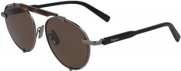 Salvatore Ferragamo SF197S sunglasses in Dark Ruthenium