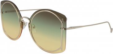 Salvatore Ferragamo SF196S sunglasses in Shiny Gold/Brown Green Yellow