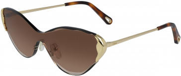 Chloé CE163S sunglasses in Gold/Gradient Brown