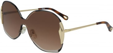Chloé CE162S sunglasses in Gold/Gradient Brown
