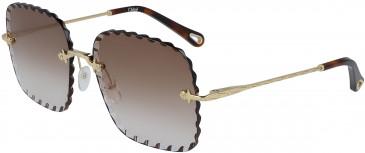 Chloé CE161S sunglasses in Gold/Gradient Peach