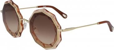 Chloé CE160S sunglasses in Gold/Peach