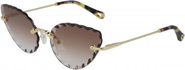 Chloé CE157S sunglasses in Gold/Purple