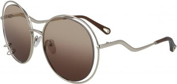 Chloé CE153S sunglasses in Gold/Gradient Brown