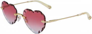 Chloé CE150S sunglasses in Gold/Gradient Wine
