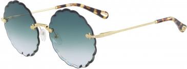Chloé CE142S-60 sunglasses in Gold/Violet Fuchsia