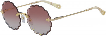 Chloé CE142S-53 sunglasses in Gold/Gradient Yellow