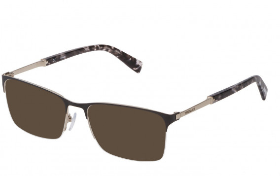 Trussardi VTR357 sunglasses in Shiny Palladium/Grey