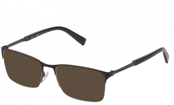 Trussardi VTR357 sunglasses in Shiny Gun/Shiny Black