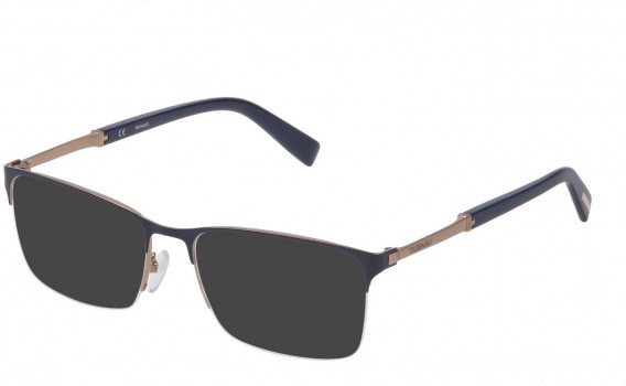Trussardi VTR357 sunglasses in Shiny Grey Gold/Coloured